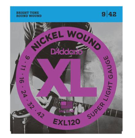 D´Addario Elgitarr Nickel Wound 009-042