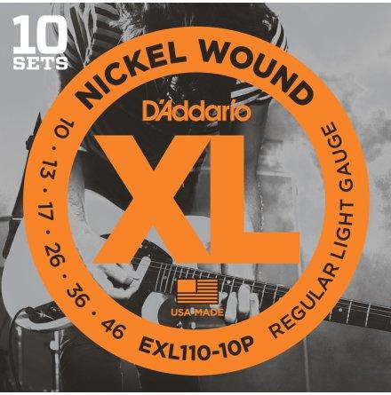 D´Addario Elgitarr Nickel Wound Propack 010 -046 (10-pack)